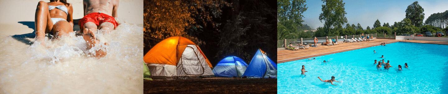 Camping cachadelos r as baixas galicia bungalows for Camping en galicia con piscina